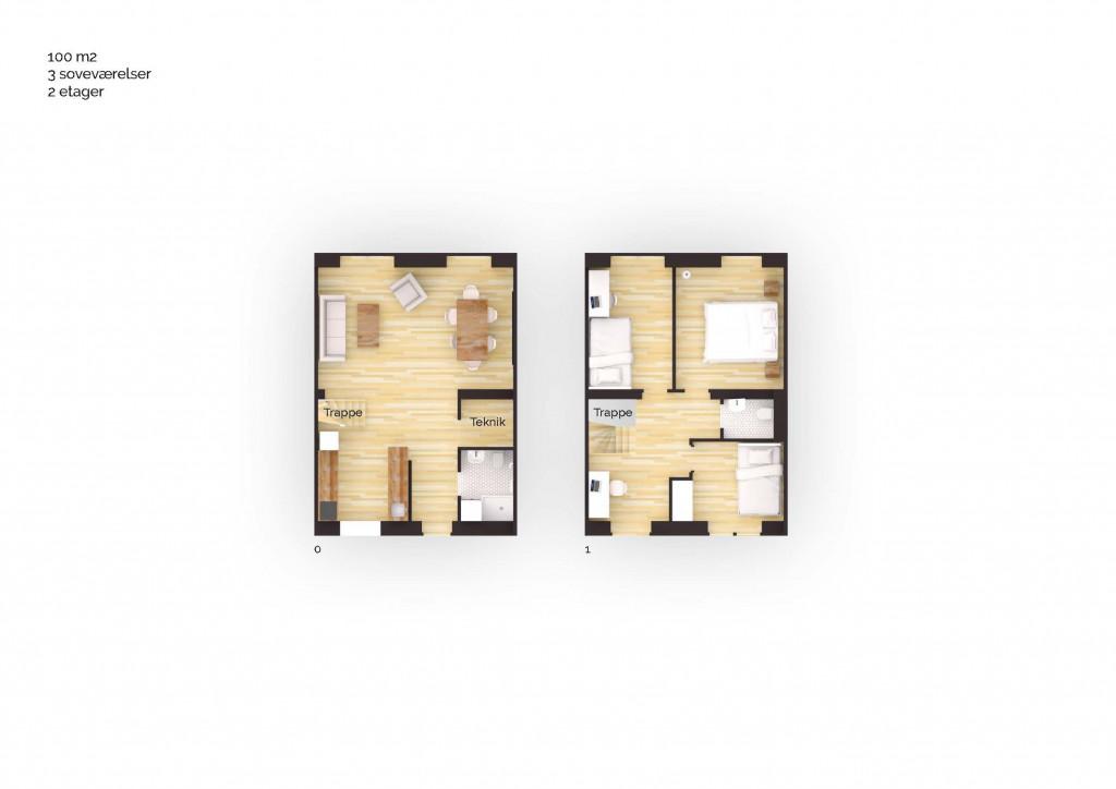 100 m2 andelsbolig i nyt bofællesskab i Vinge - Boligplan_100m2_4v_70586d6912c588430187f77aeeb6eb9e
