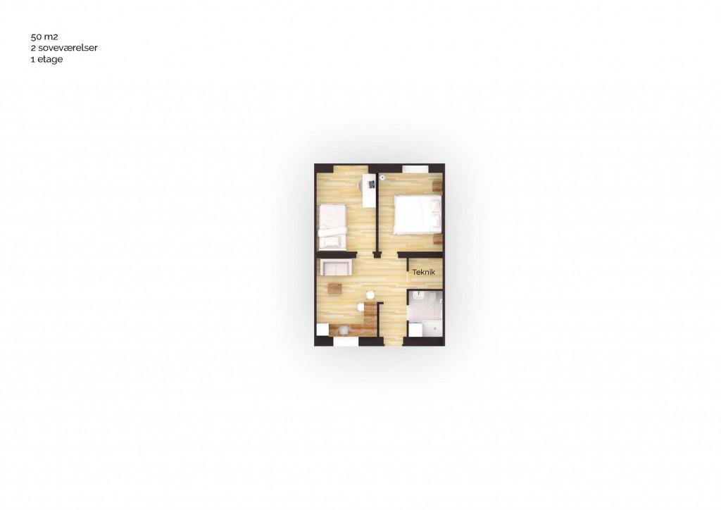 50 m2 bolig i nyt bofællesskab i Helsinge - Boligplan_50m2_3V_dc4b3c990e80ec1abaf50bdcbca045ba