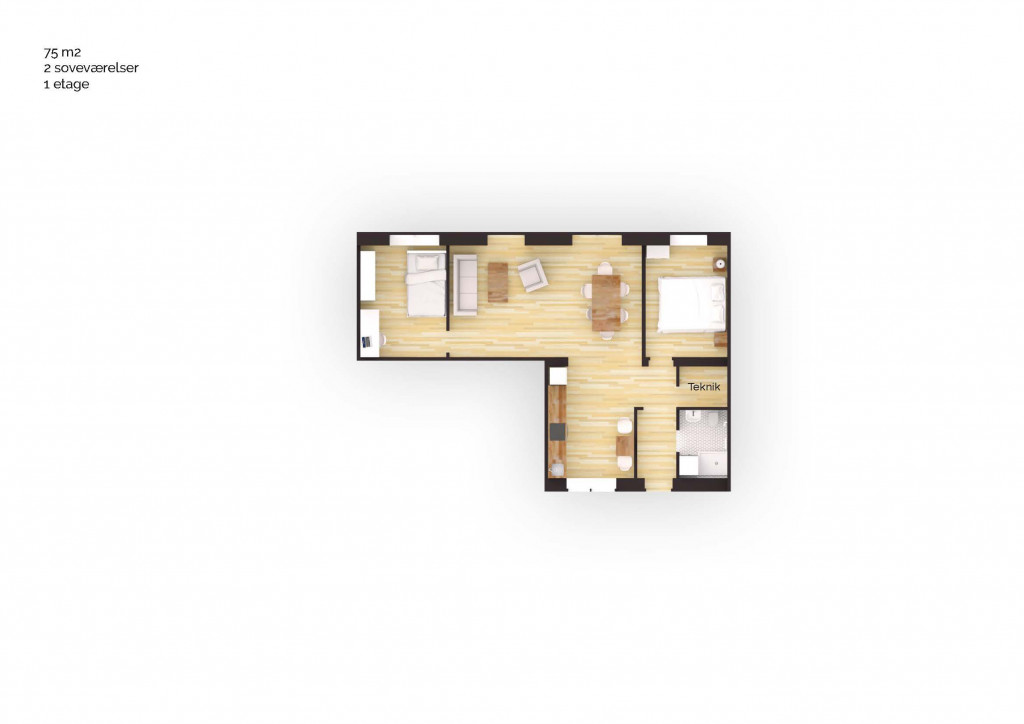 75 m2 andelsbolig i nyt bofællesskab i Vinge - Boligplan_75m2_3v_cf4487dc4a00ab34cc355845fa80e0f9