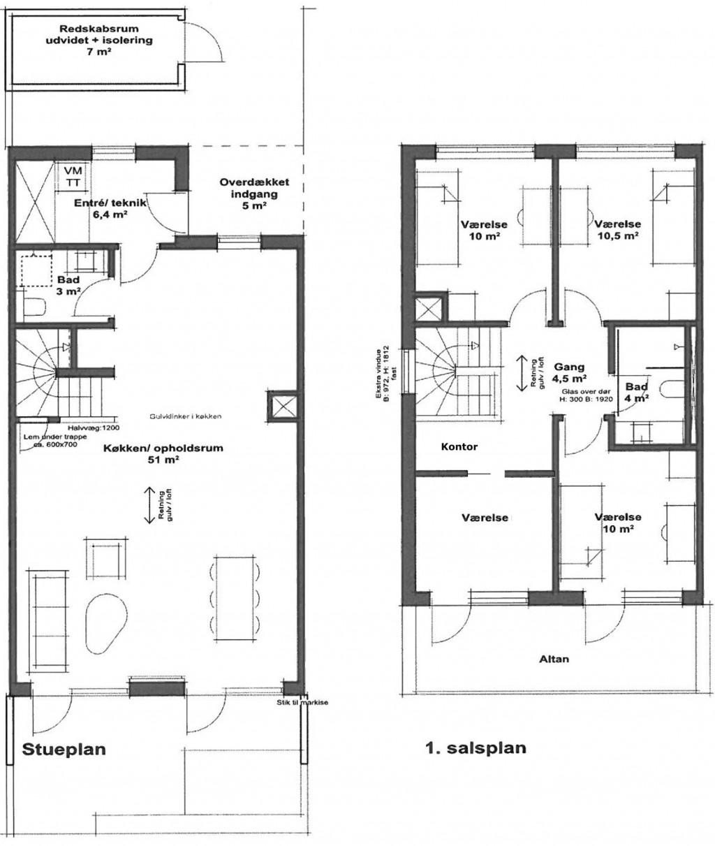 Rækkehus på 135 m2 i nyetableret og velfungerende bofællesskab i Farum - Grundplan_242da9f33f20ed3628fe865162d2acf1