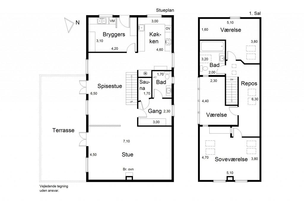 Stor  moderniseret villa i bofællesskab i  Bjert v.Kolding - Plantegning-vandret_d426d881018e342914fcfc1390bcac66