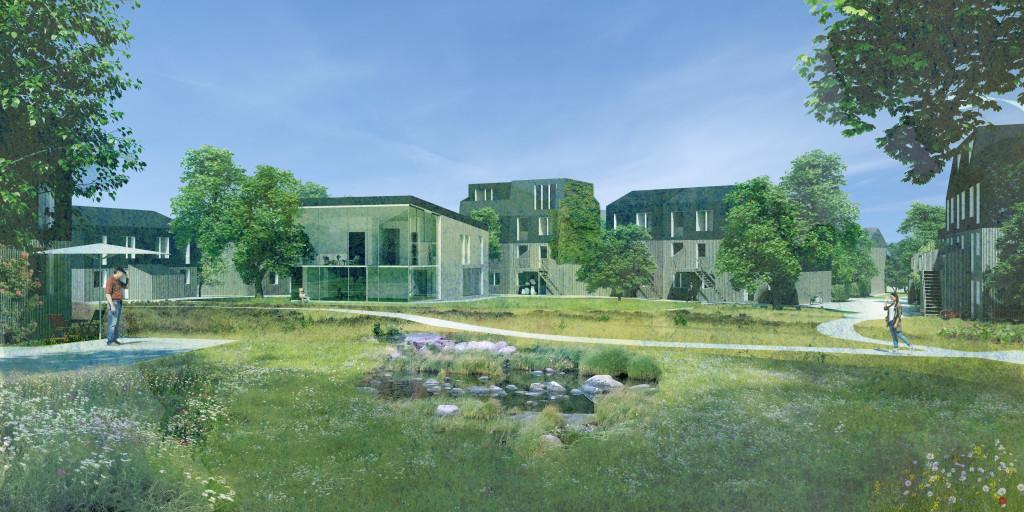 100 m2 bolig i nyt bofællesskab i Vinge - Vinge_2020_perspektiv_bf4a37329f96825a20b0d82184893517