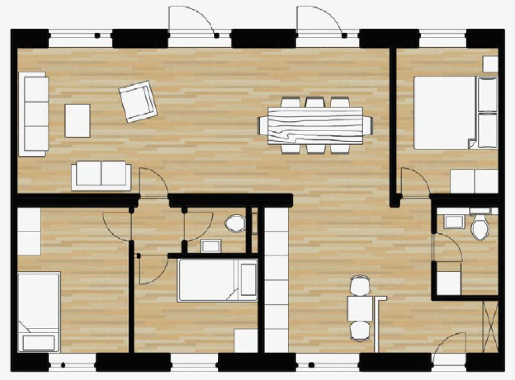 100 m2 bolig i nyt bofællesskab i Helsinge   - boligtyper100A_caf29896ac8059ebc54dc62e01987ae5