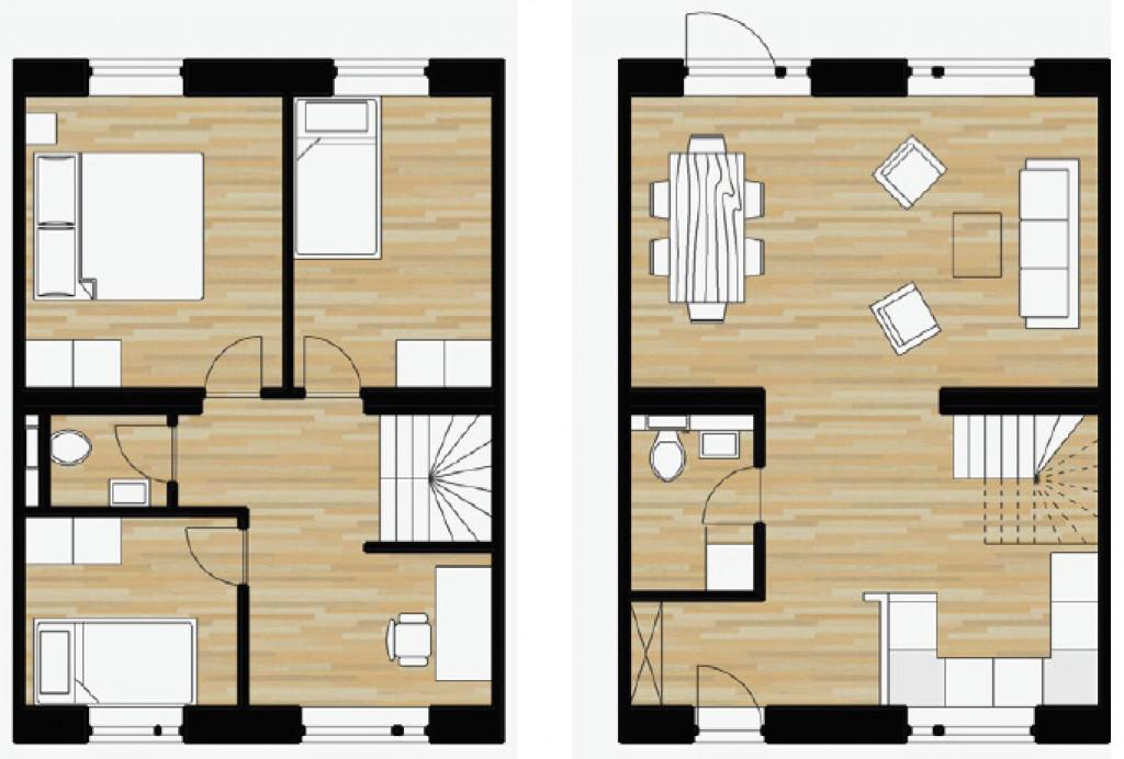 100 m2 bolig i nyt bofællesskab i Helsinge   - boligtyper100B_a56e1f92cda165a66a84f1b89ed6dfd9